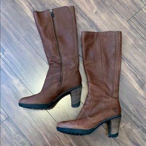 NWOT timberland waterproof heeled tall boots